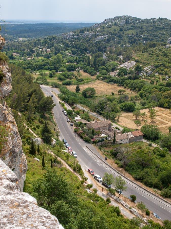 Val D ` Efner, Les Baux DE de Provence, de bouches-du-Rhône, de Provence stock foto