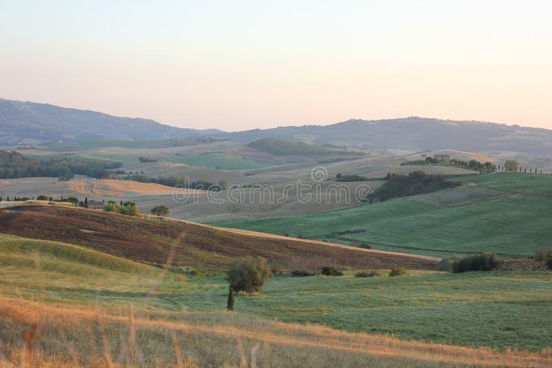 Val d ` Orcia krajobraz zdjęcia royalty free