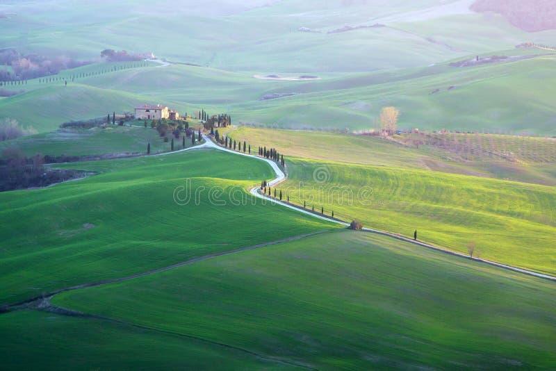 Val d ` Orcia w Tuscany zdjęcie royalty free