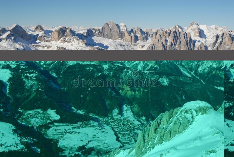 Val Di fassa royalty-vrije stock afbeelding