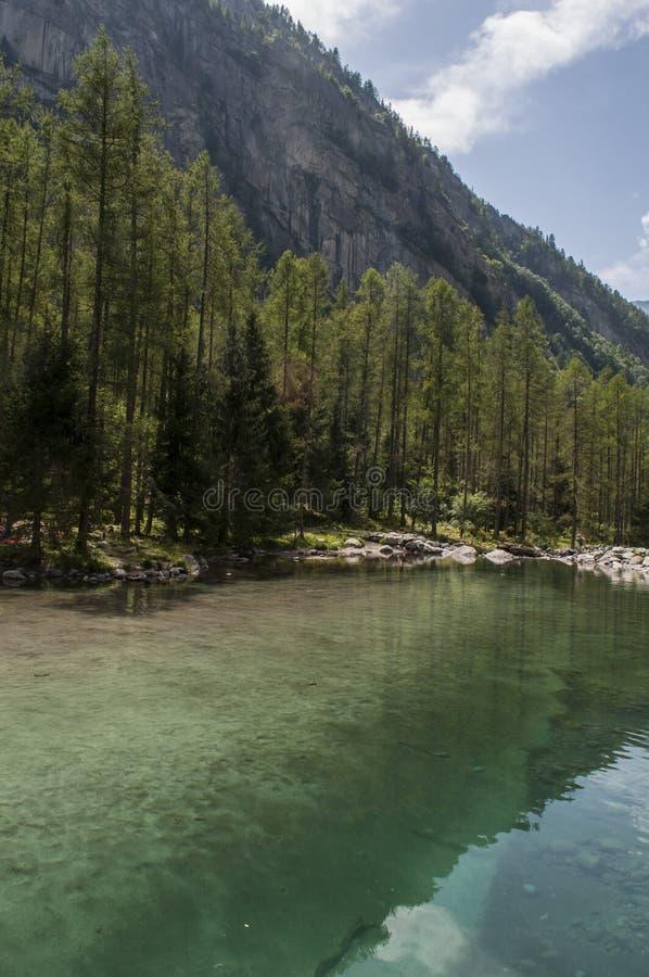 Val di Mello, Val Masino, Valtellina, Sondrio, Italy, Europe. Italy, 03/08/2017: view of the alpine lake in the Mello Valley, Val di Mello, a green valley stock photos