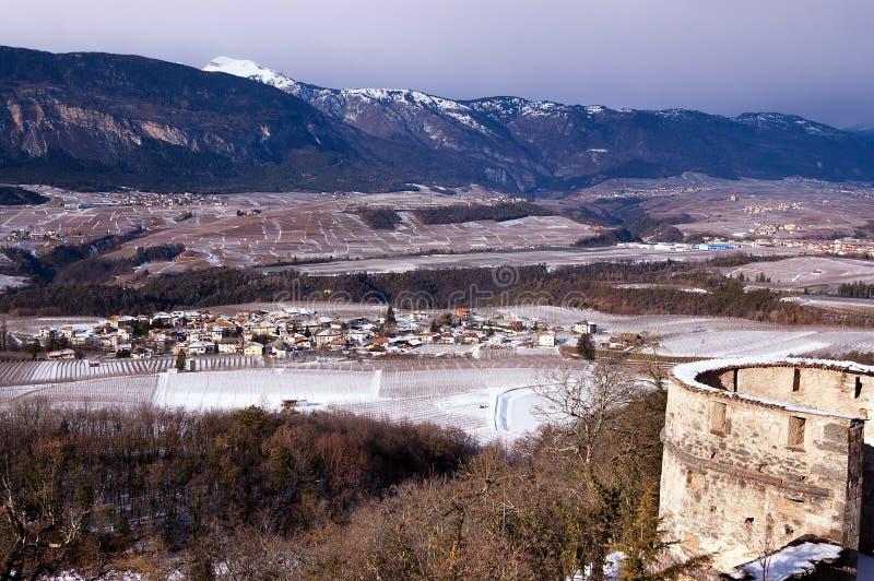 Val Di Non το χειμώνα - Trentino Ιταλία στοκ εικόνες