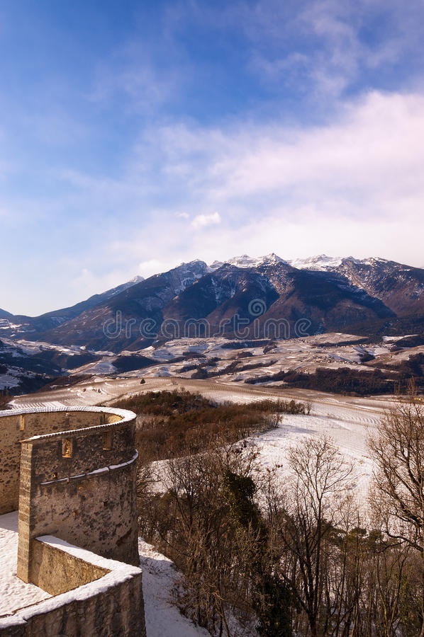 Val Di Non το χειμώνα - Trentino Ιταλία στοκ εικόνα με δικαίωμα ελεύθερης χρήσης