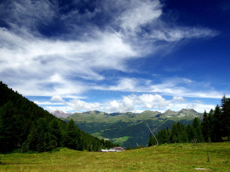 Val di sole in trentino, italy royalty free stock image