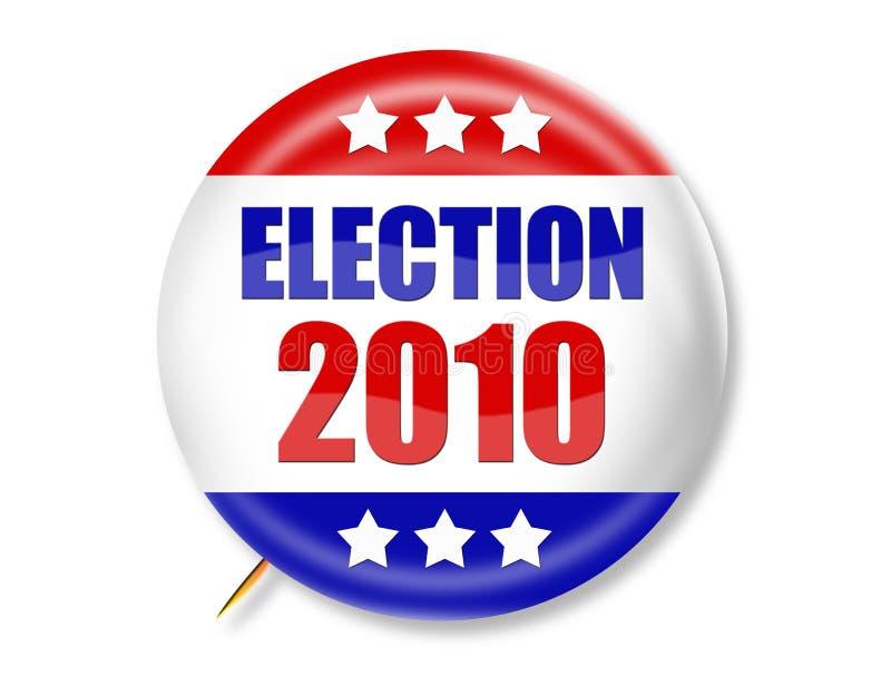 val för 2010 knapp royaltyfri illustrationer