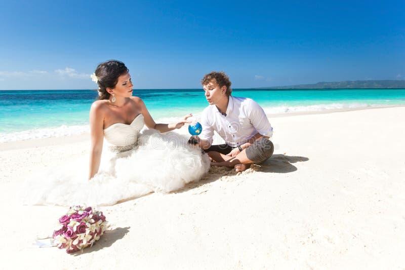 Val för bröllopsresa fotografering för bildbyråer