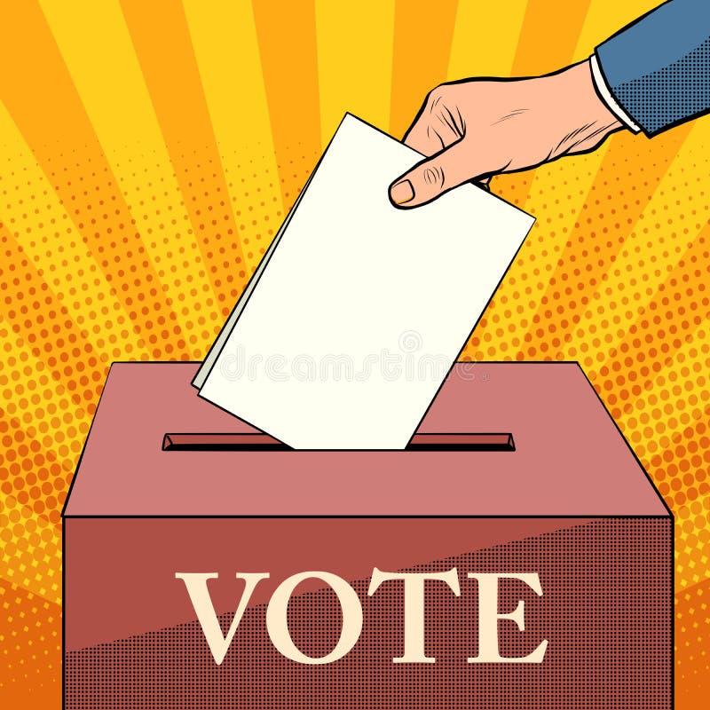 Val för väljarevalurnapolitik royaltyfri illustrationer