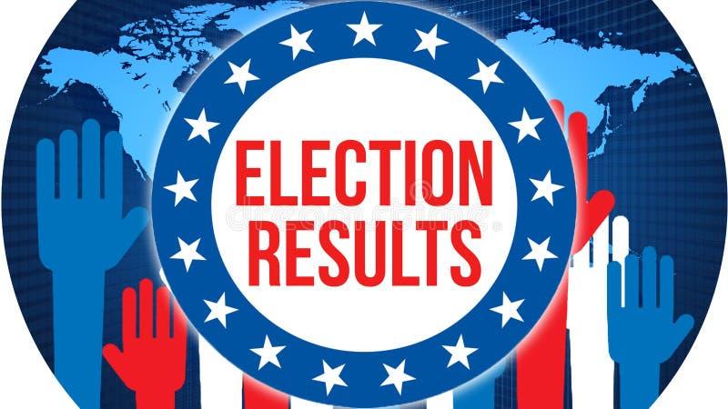 Val för valresultat på en världsbakgrund, tolkning 3D Världslandsöversikt som begrepp för politisk bakgrund Rösta frihet stock illustrationer