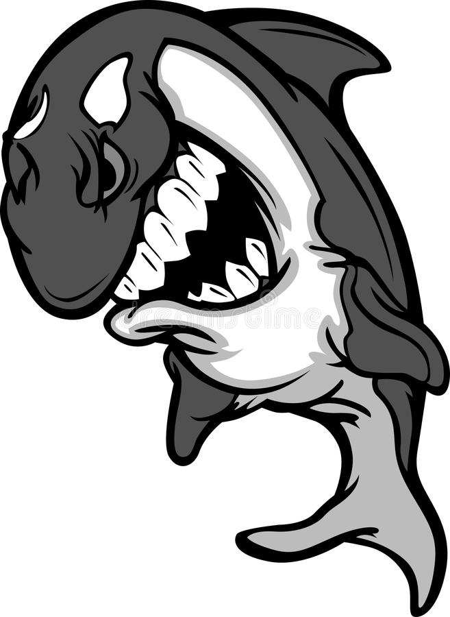val för vektor för tecknad filmmördaremaskot vektor illustrationer