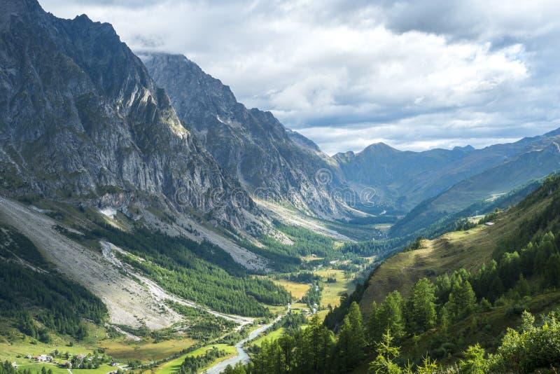 Val Ferret, Italia fotografia stock libera da diritti