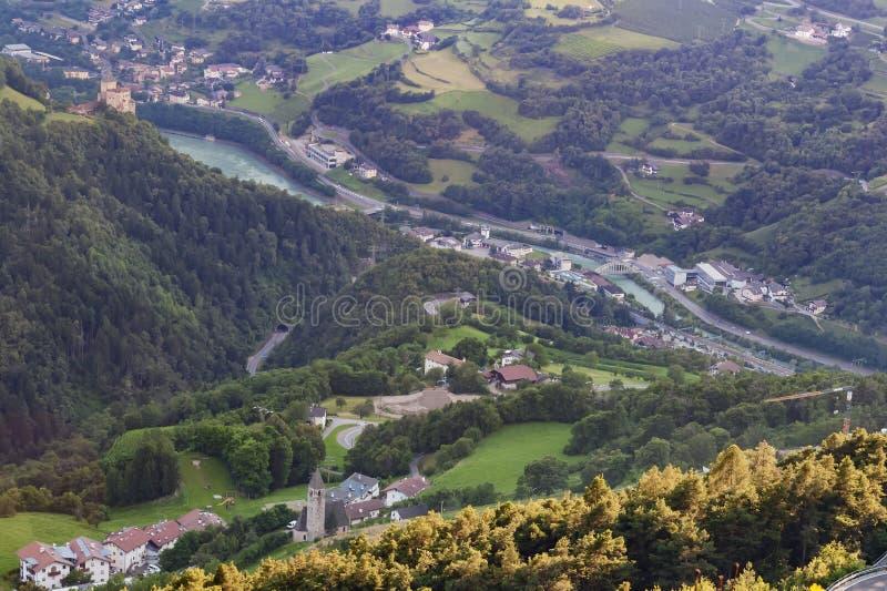 Val Gardena, Dolomities, Италия стоковая фотография rf