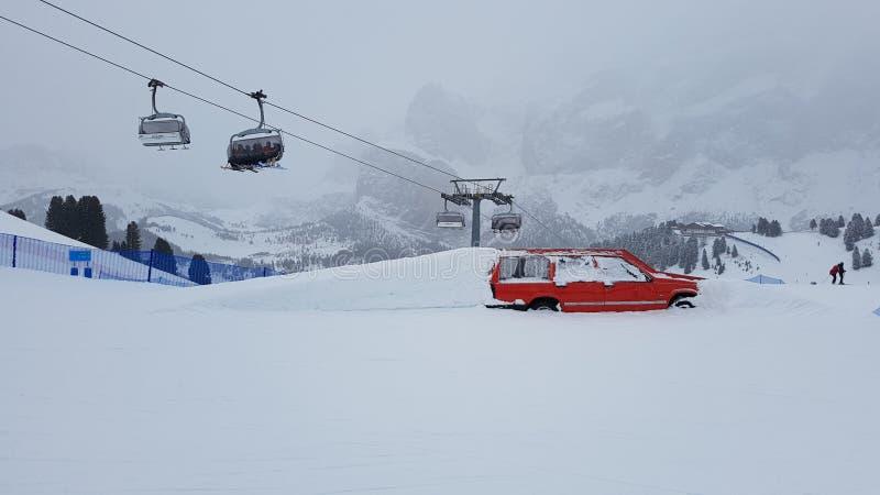 Val Gardena-Skiort lizenzfreie stockfotos