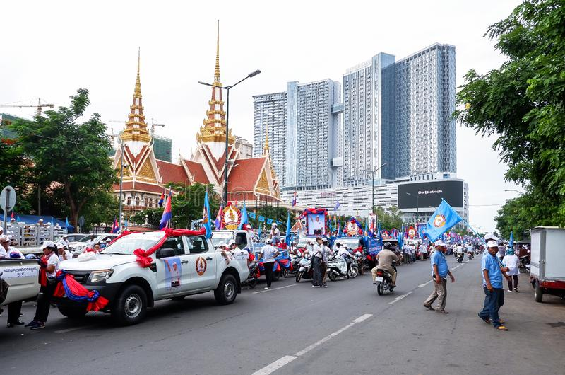 Val i huvudstaden Phnom Penh, Cambodja royaltyfri foto