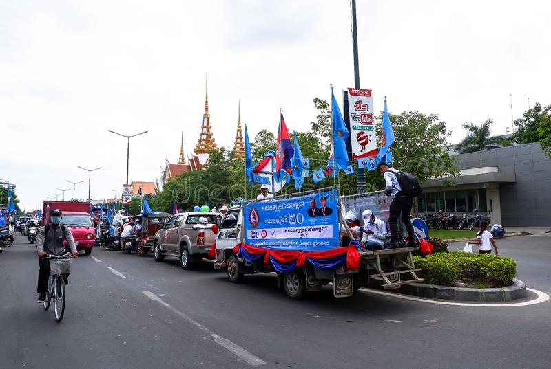 Val i huvudstaden Phnom Penh, Cambodja royaltyfria bilder