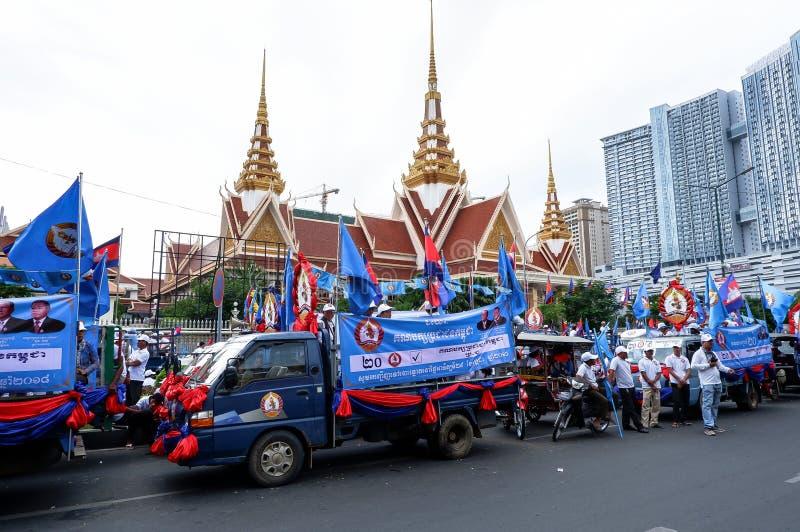Val i huvudstaden Phnom Penh, Cambodja arkivbilder