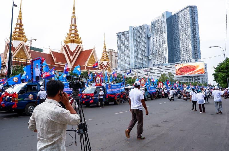 Val i huvudstaden Phnom Penh, Cambodja royaltyfri fotografi