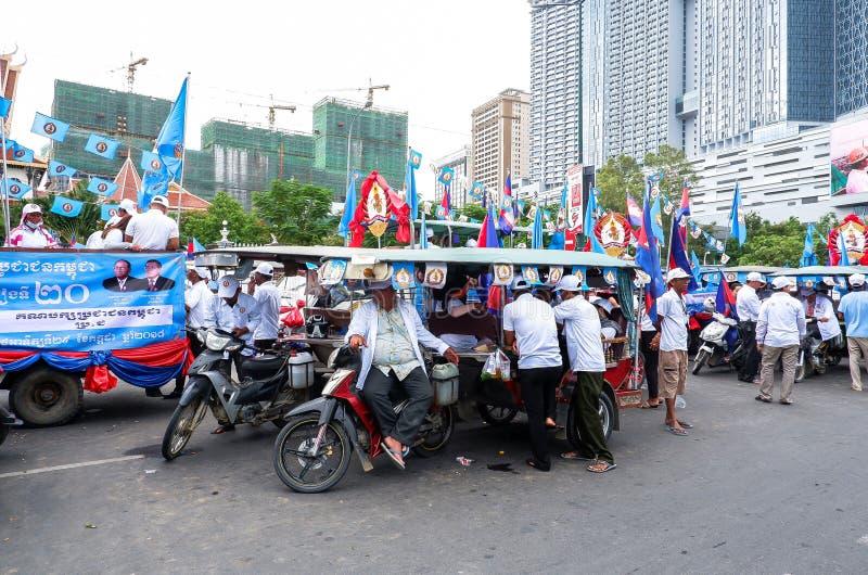 Val i huvudstaden Phnom Penh, Cambodja royaltyfria foton