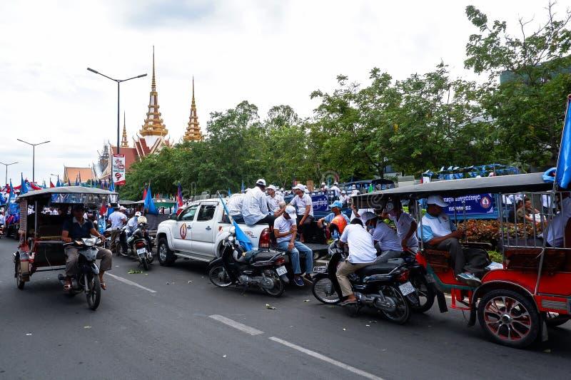 Val i huvudstaden Phnom Penh, Cambodja fotografering för bildbyråer