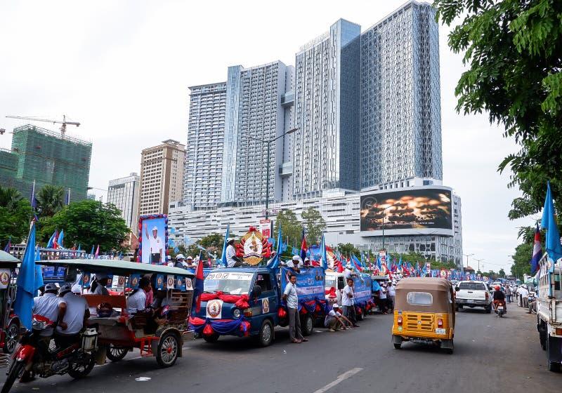 Val i huvudstaden Phnom Penh, Cambodja arkivbild