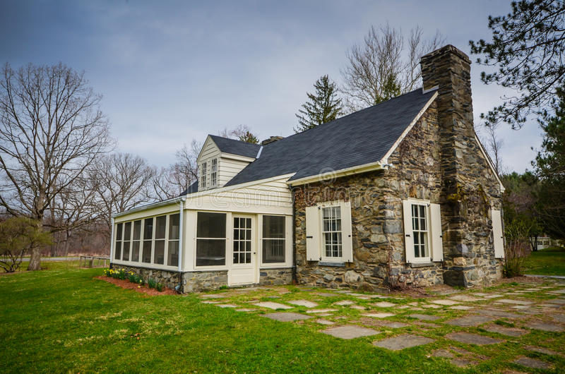 Val-Kill Cottage - Eleanor Roosevelt National Historic Site. Eleanor Roosevelt National Historic Site preserves the Stone Cottage at Val-Kill, the home of First stock images
