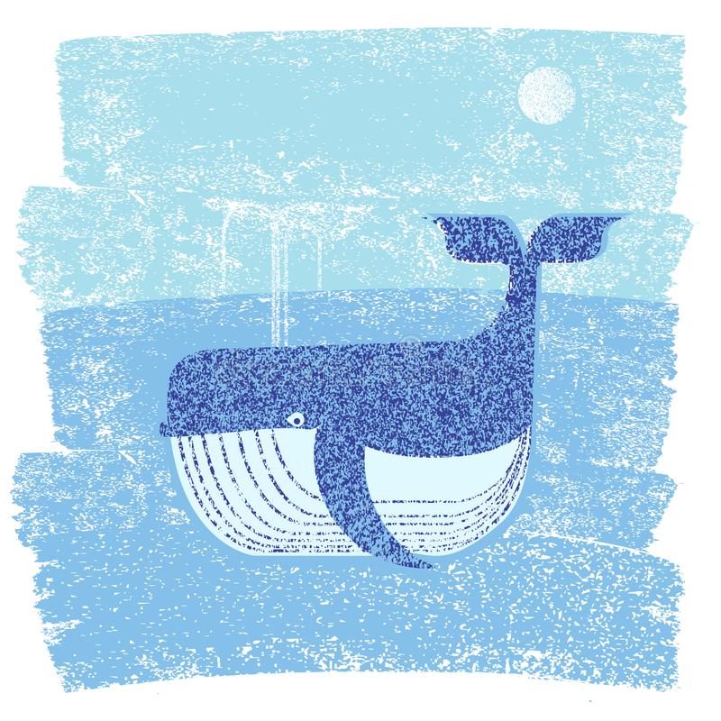 Val och hav Abstrakt illustration för vektor av havslandskapet vektor illustrationer