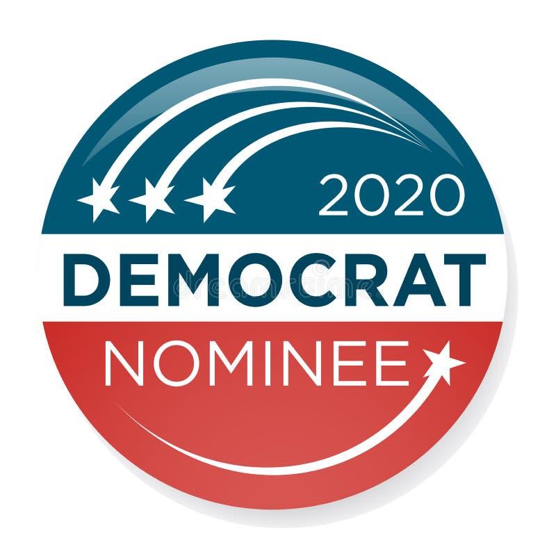 Val Pin Button för 2020 aktion eller emblem med patriotiska stjärnor vektor illustrationer