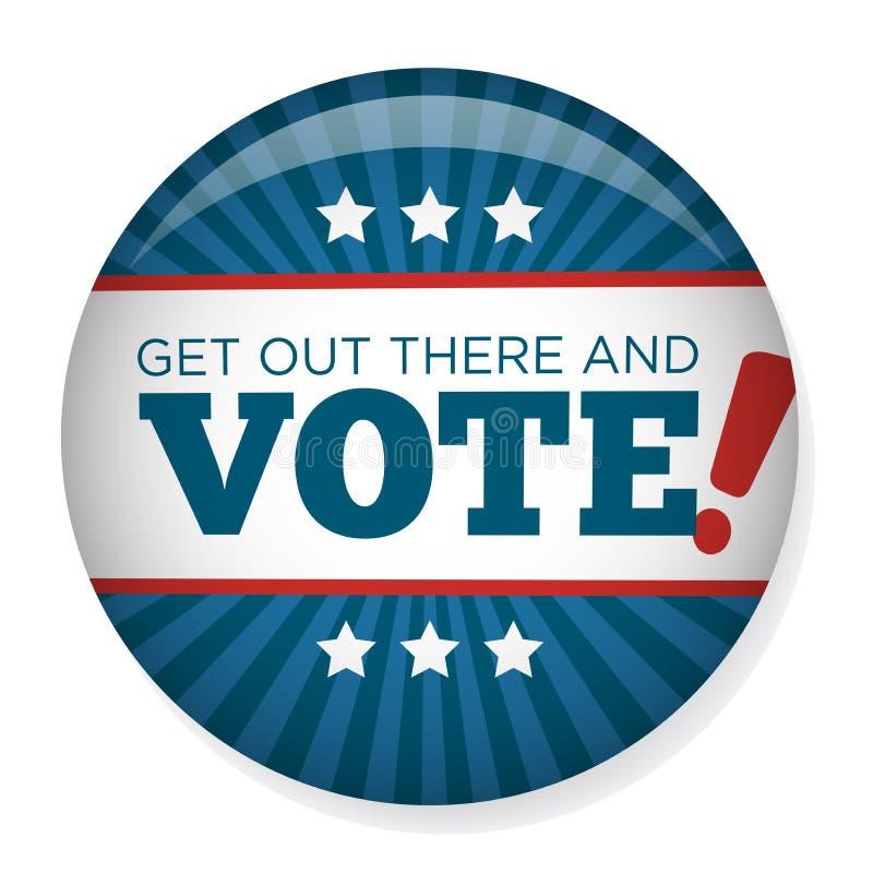 Val Pin Button för 2020 aktion eller emblem med patriotiska stjärnor royaltyfri illustrationer