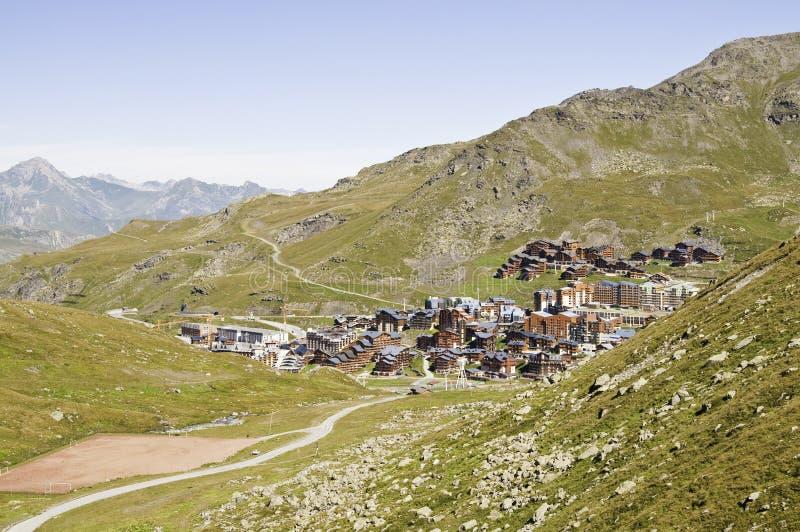 Val Thorens (2770 m.) stock fotografie