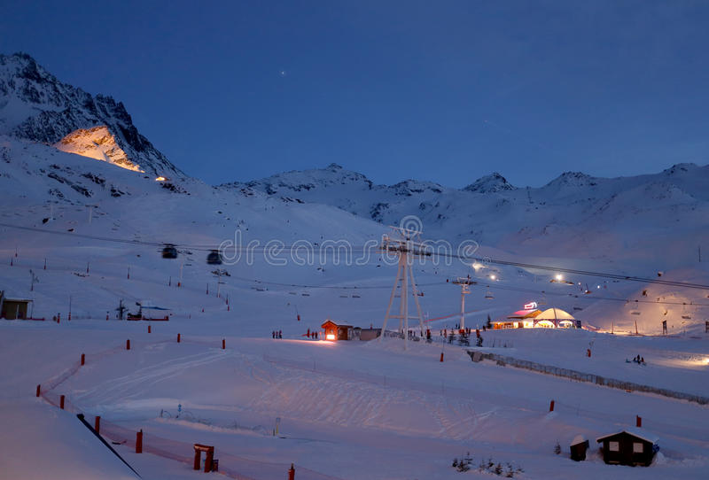 Val Thorens stock foto's
