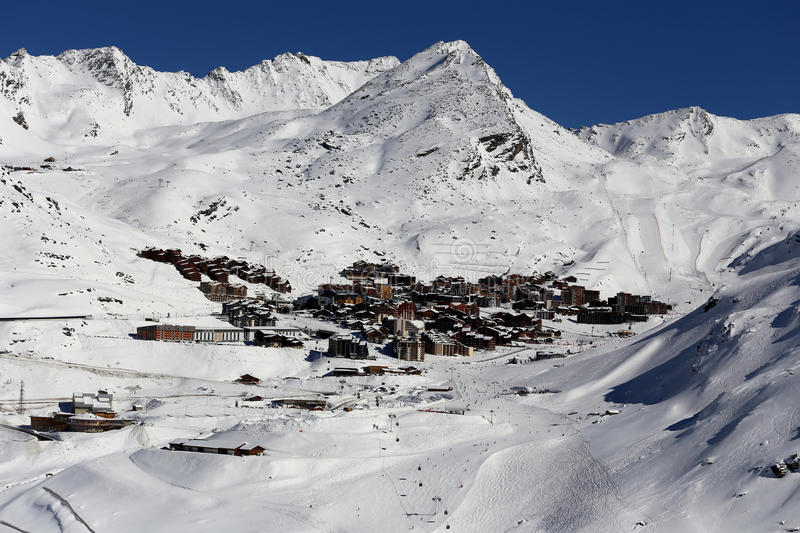 Val Thorens royalty-vrije stock fotografie
