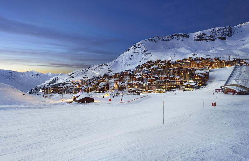 Val Thorens in France royalty free stock images