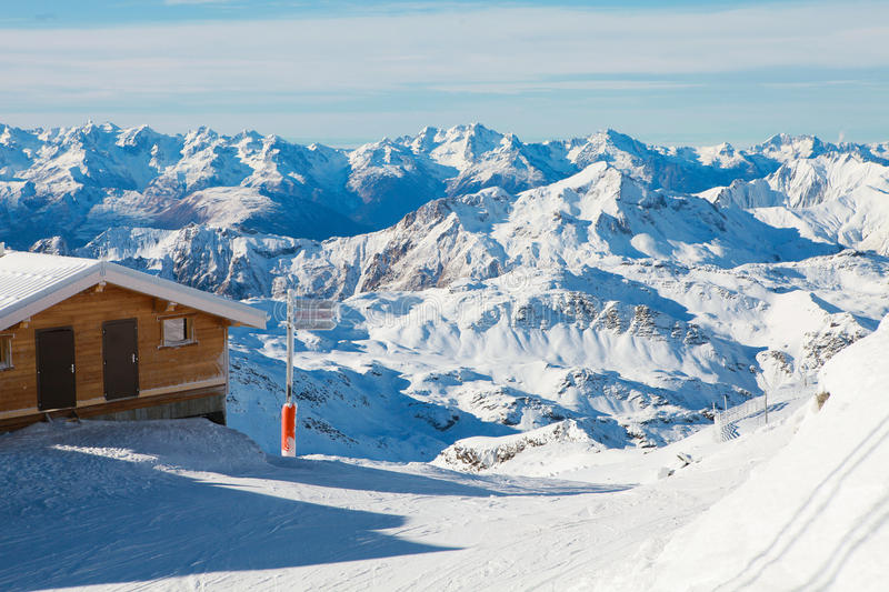 Val Thorens stock image. Image of mountains, station - 49611469