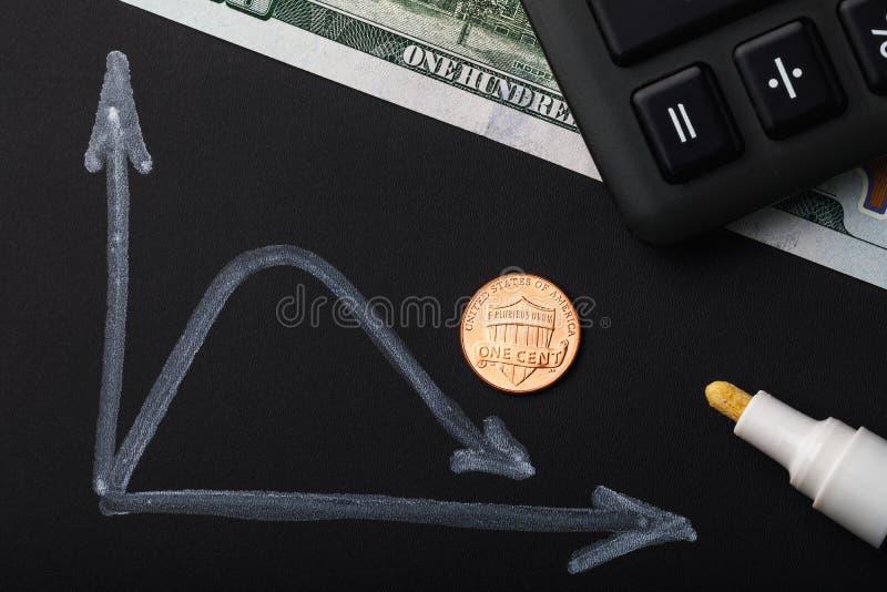 Val van de dollar in de wisselmarkt royalty-vrije stock foto's