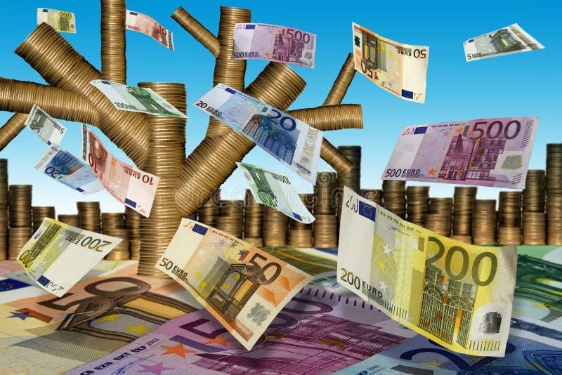 Val van de (euro) bladeren royalty-vrije stock foto