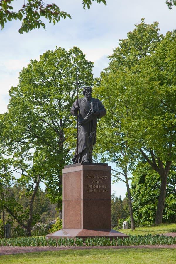 Valaam Monumento al de Andrew Primero-llamado imagen de archivo