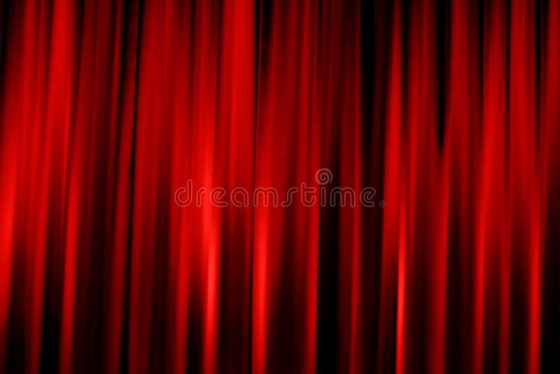 Valance rosso del cinematografo fotografia stock