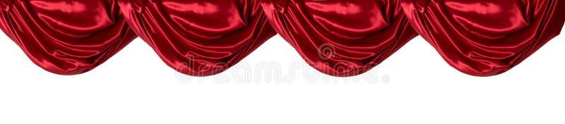 Valance rosso della tenda, isolato fotografie stock