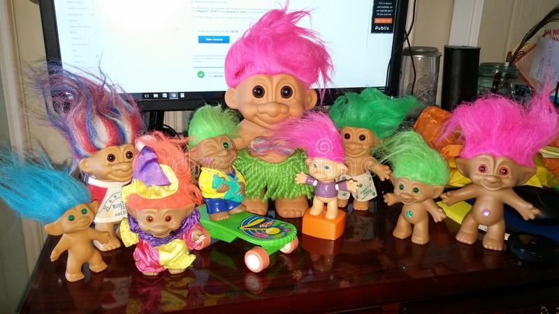 Valanga dei troll fotografie stock libere da diritti