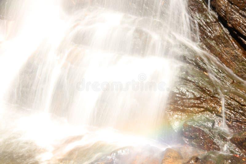 Slow motion Valanjamkanam Waterfall. Valanjanganam falls, locally known as Ninnumullipara is a scenic waterfall located in Kuttikkanam in Idukki district, Kerala royalty free stock images