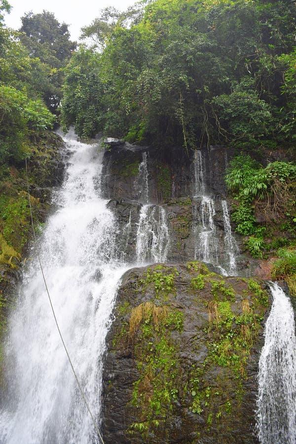 Valanjanganam Water Falls near Kuttikkanam, Idukki District, Kerala, India. This is a photograph of scenic Valanjanganam waterfalls, also known as Ninnumullipara royalty free stock images
