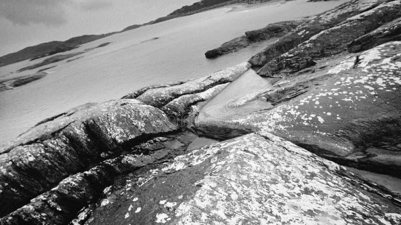 Valar, avtryck från Republiken Irlands kust royaltyfri bild