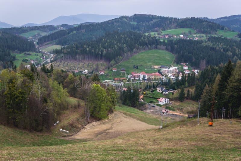 Valasska Bystrice dans la République Tchèque photo stock