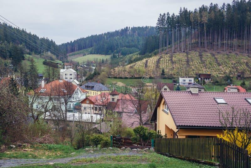 Valasska Bystrice in repubblica Ceca fotografia stock libera da diritti
