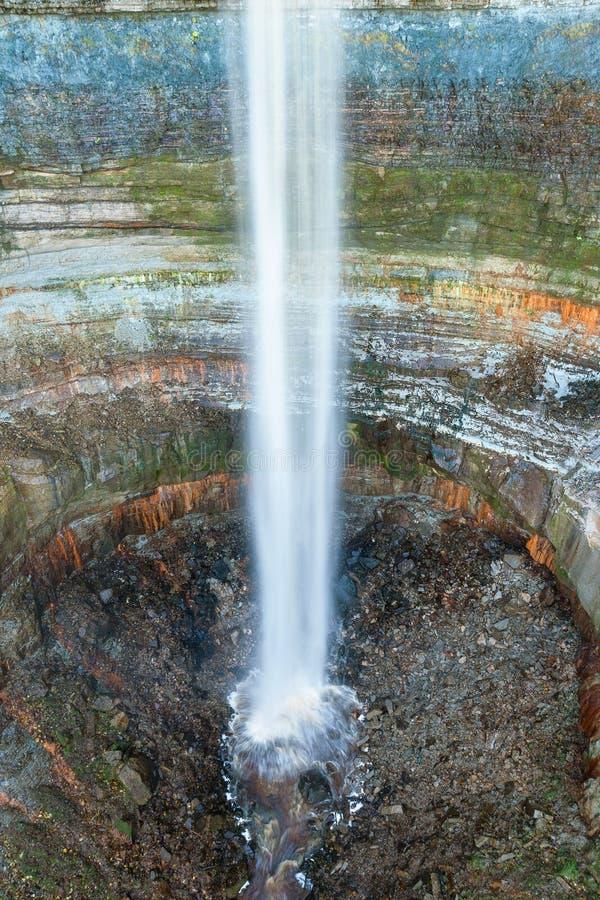 Valaste瀑布 IdaViru县,爱沙尼亚, Europ 免版税库存图片