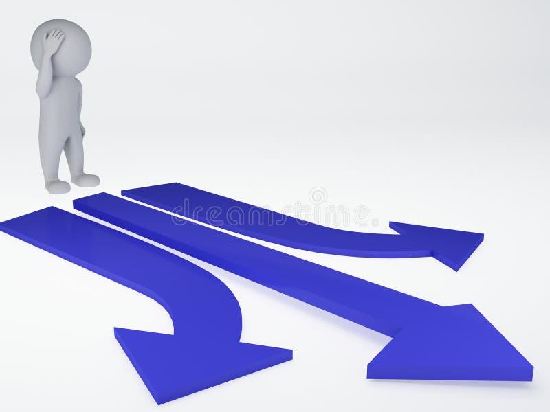 Valbegrepp för tre pilar vektor illustrationer