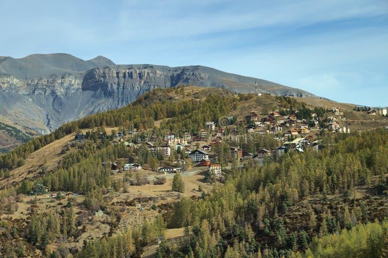 Valberg, Skiort in französischem Riviera stockfotografie