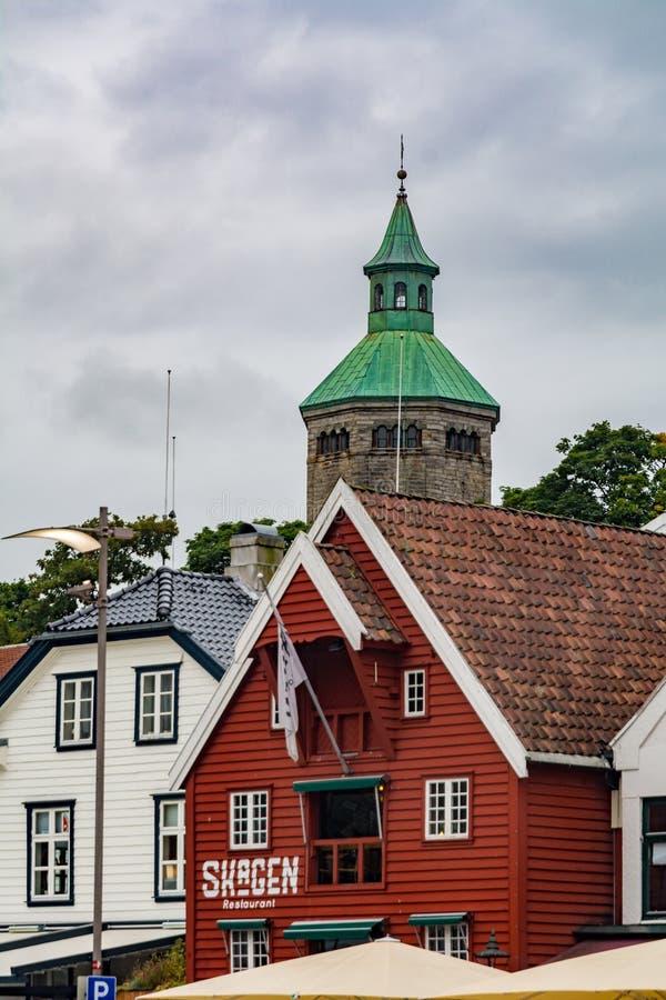 Valbergtarnet of Valberg-toren in Stavanger, Noorwegen stock foto