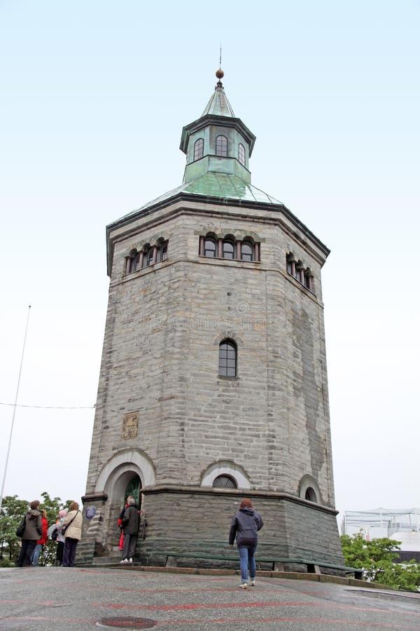 Valbergtoren, Stavanger, Noorwegen royalty-vrije stock foto's