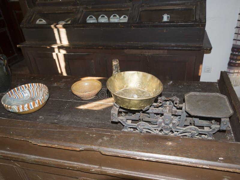 Valcea县村庄博物馆的老罗马尼亚传统旅馆  库存照片