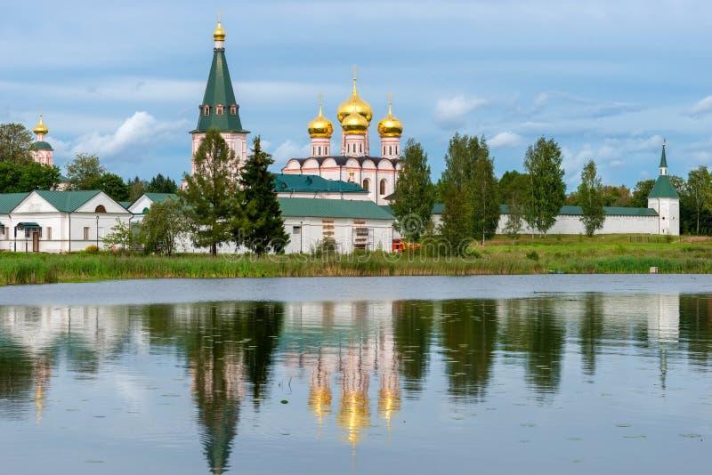 Valdai Iver Svyatoozersky dziewicy monaster zdjęcia stock